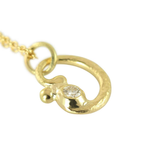 18kt Yellow Gold Rocaille Pendant