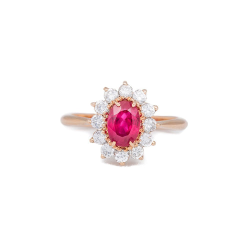 Rose Gold & Ruby Ring | Katherine LeGrand