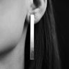 Medium Storey Plank Earrings-AWU Fine Jewelry-JewelStreet EU