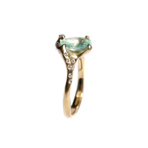 18kt Yellow Gold Asymmetric Oceanus Ring ,[product vendor],JewelStreet