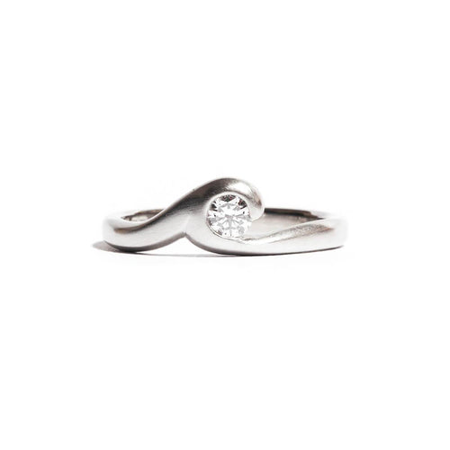 Satin Finished Platinum Southern Ocean Ring
