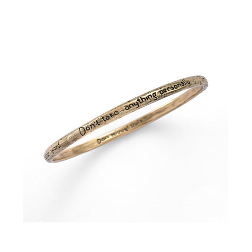 Four Agreements Reminder Bangle In Bronze Large-House of Alaia-JewelStreet EU
