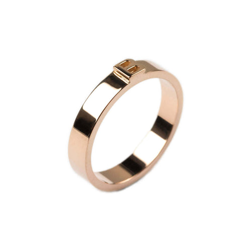 14kt Rose Gold Thin Character Ring ,[product vendor],JewelStreet