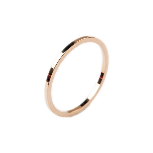 14kt Rose Gold Thin Essential Ring ,[product vendor],JewelStreet