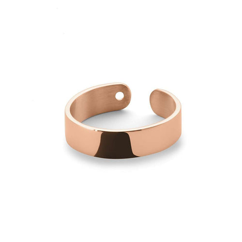 Duo Ring in Shiny Rose Gold Plated-EKRIA-JewelStreet EU