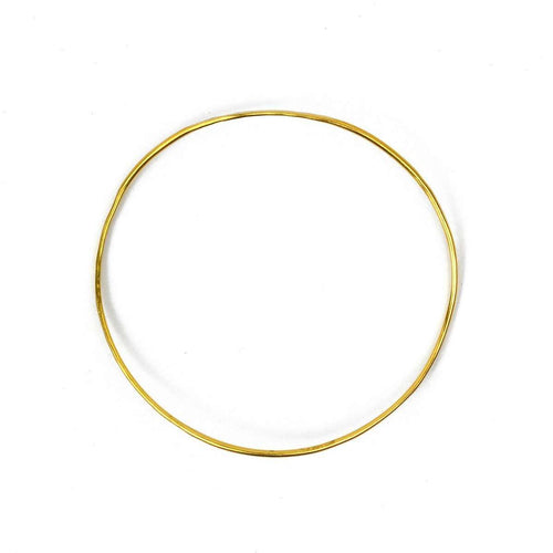 Wave Vermeil Single Bangle-FRAN REGAN JEWELLERY-JewelStreet EU