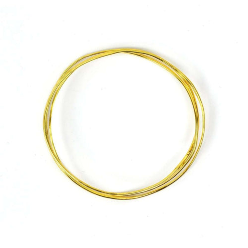 Wave Vermeil 3 Tier Bangle-FRAN REGAN JEWELLERY-JewelStreet EU