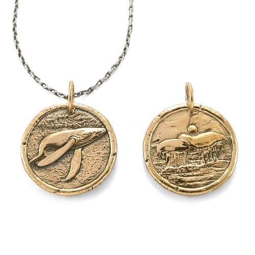 Power Whale Traveller's Coin Necklace-House of Alaia-JewelStreet EU