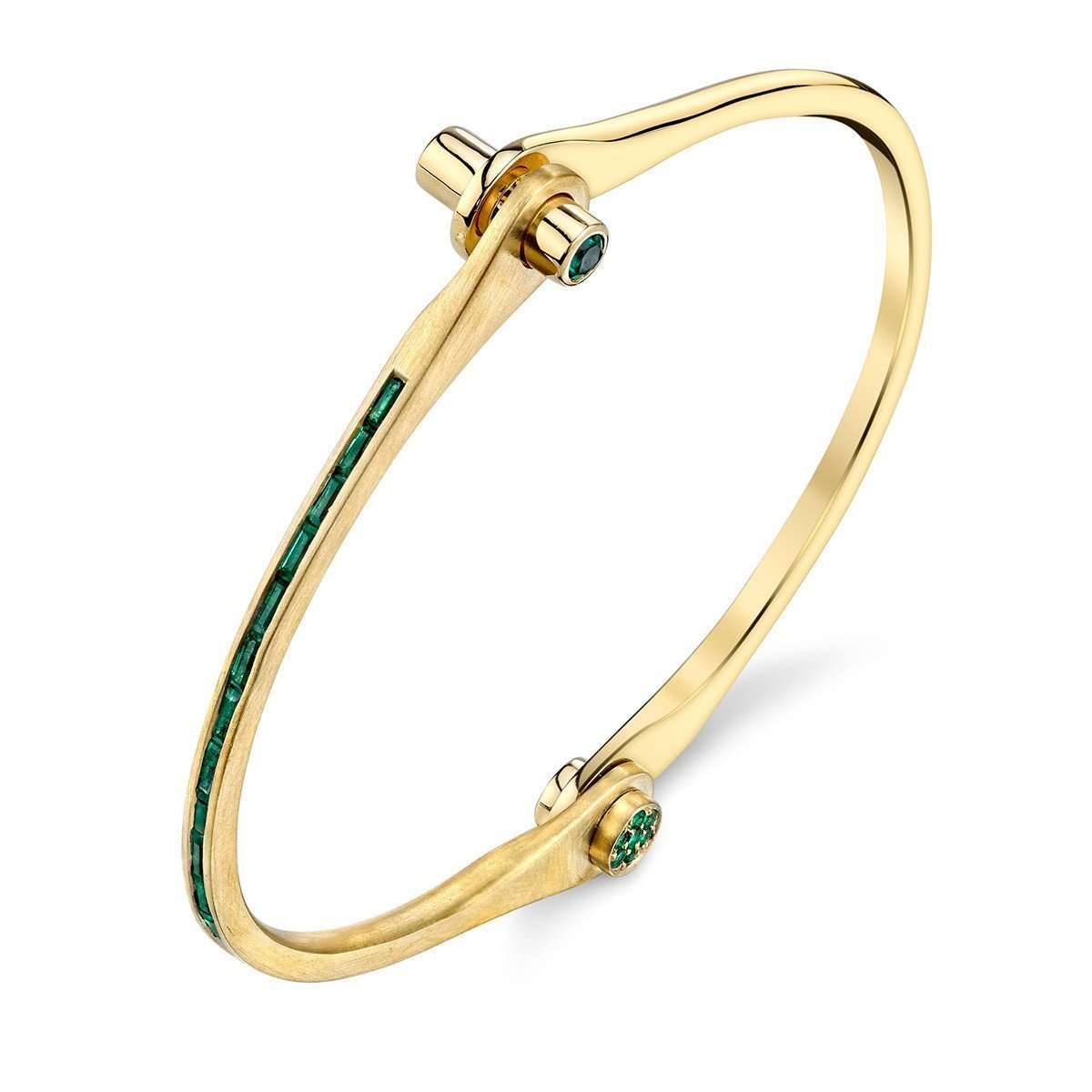 Borgioni Baguette Triple Ear Cuff with Emeralds jVBDH8