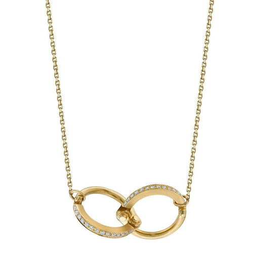 Handcuff Chain Necklace in Yellow Gold ,[product vendor],JewelStreet EU