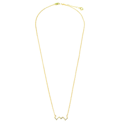 18kt Gold Vermeil Baori Outline Necklace ,[product vendor],JewelStreet