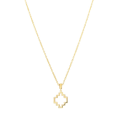 18kt Yellow Gold Vermeil Baori One Silhouette Pendant ,[product vendor],JewelStreet
