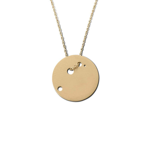 Yellow Gold Plated Aries Zodiac Necklace