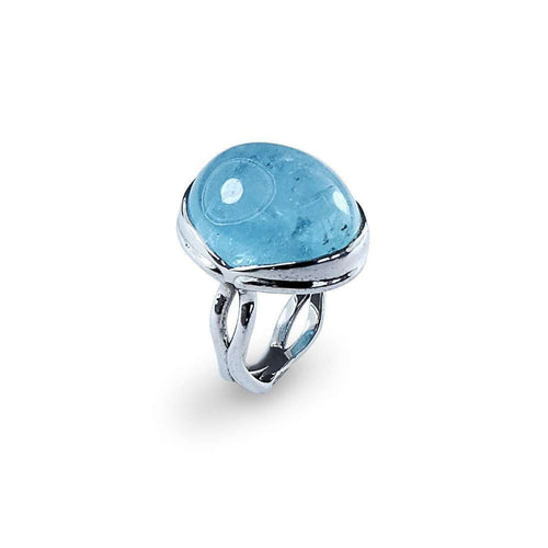 ACROSI 18kt White Gold & Aquamarine Ring-Serena Fox-JewelStreet EU