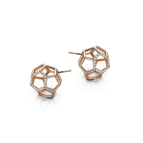 Air Sphere Rose Gold Earrings-Goldneilson-JewelStreet EU