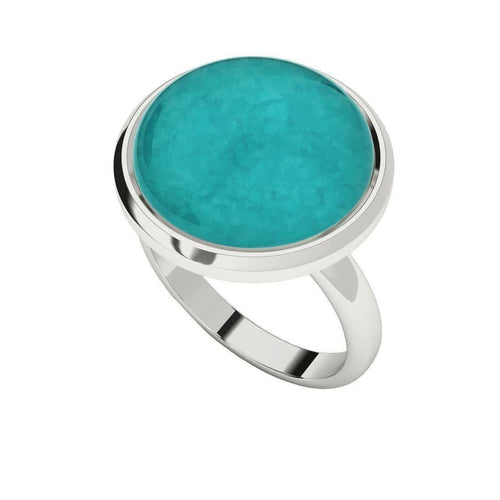Amazonite Sterling Silver Cabochon Ring-StyleRocks-JewelStreet EU