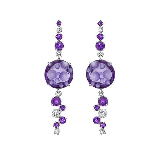 Amethyst Bubble Ice Earrings-Madstone Design-JewelStreet EU