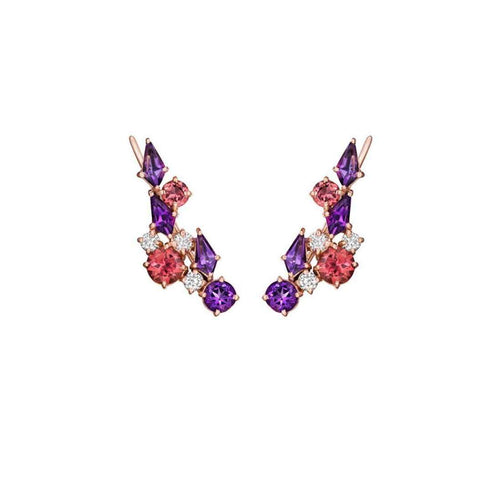 Melting Ice Ear Climber With Amethyst ,[product vendor],JewelStreet EU