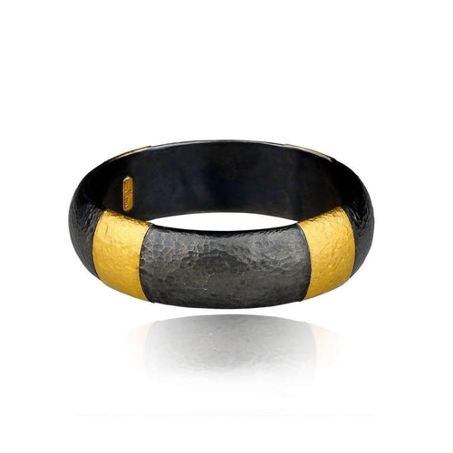 """Ancora"" Gold and oxidised silver Band Fused Bracelet"