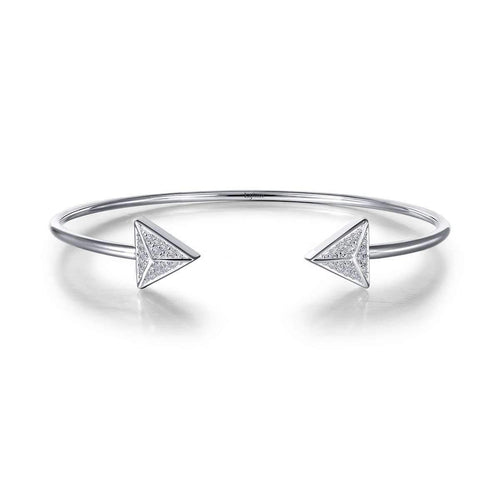 Lafonn Lassaire Flexible Open Triangle Cuff Bracelet-Lafonn-JewelStreet US