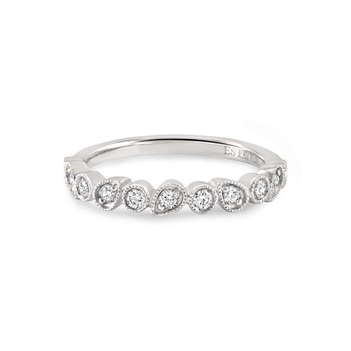 Leah White Gold Diamond Stacking Ring ,[product vendor],JewelStreet EU