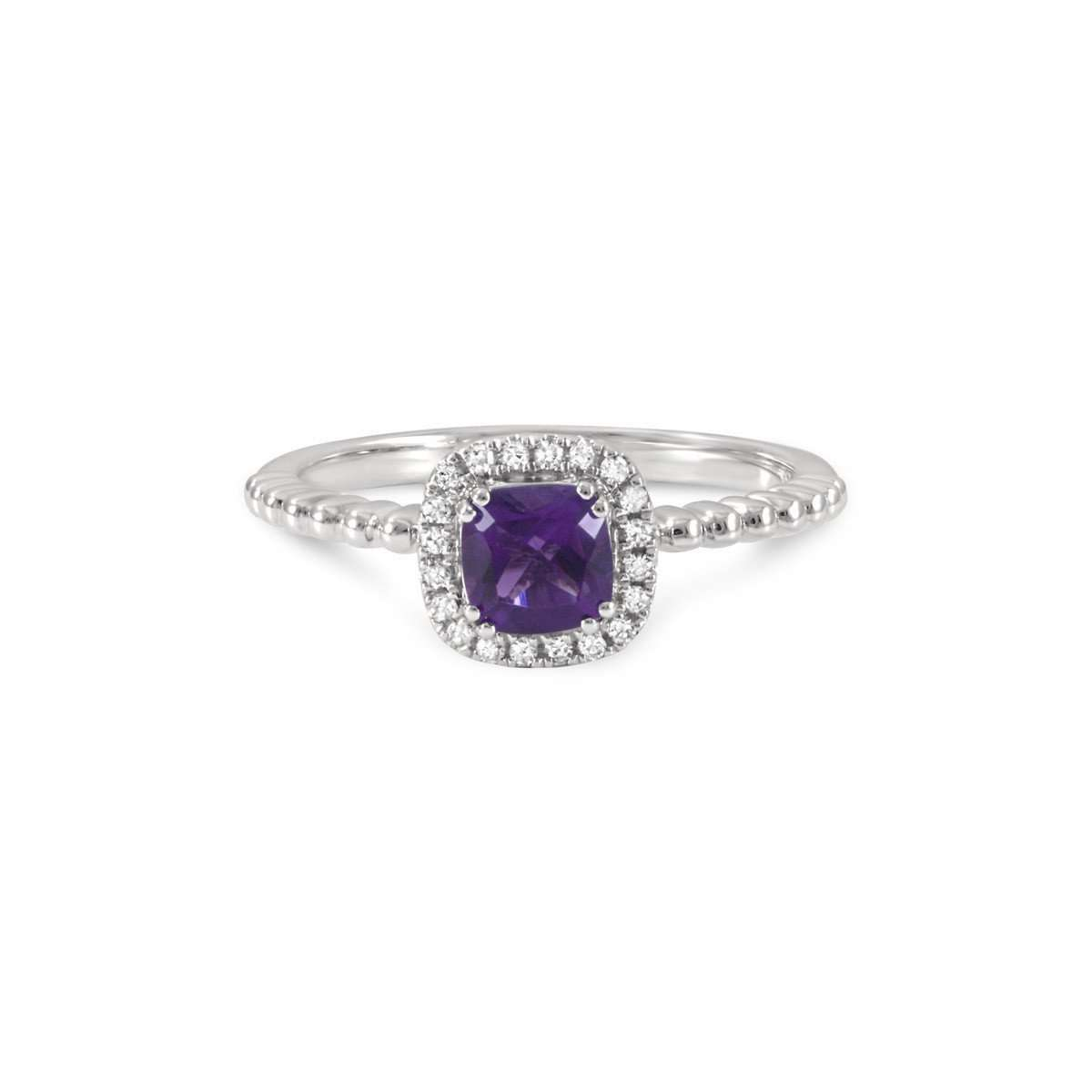 June Amethyst Stacking Ring ,[product vendor],JewelStreet EU