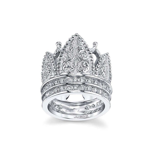 Gothic Crown Ring With Diamonds ,[product vendor],JewelStreet EU