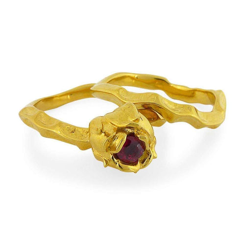 18kt Fairtrade Yellow Gold Briar Rose Ring-Rachel Helen Designs-JewelStreet EU