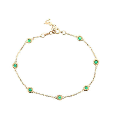 Hailstones Catching Light Emerald Bracelet-Betty Balaba-JewelStreet EU