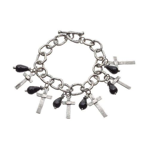 Black Treasure Oxidised Bracelet-Kate Chell Jewellery-JewelStreet EU