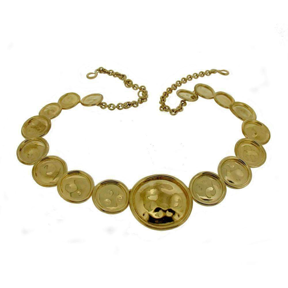 Gold Vermeil Bottle Top Necklace-Necklaces-Will Bishop-JewelStreet