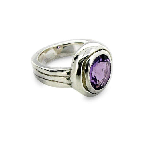Amethyst Silver Ring-Rings-Will Bishop-JewelStreet