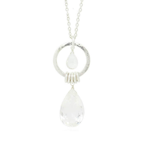 Isla Rose Double Crystal Necklace