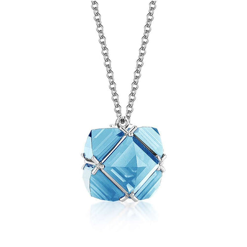 Blue Topaz 'Very PC' Pendant Necklace, Petite-Paolo Costagli New York-JewelStreet EU