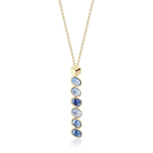 Blue And White Sapphire Ombre Necklace-Paolo Costagli New York-JewelStreet EU
