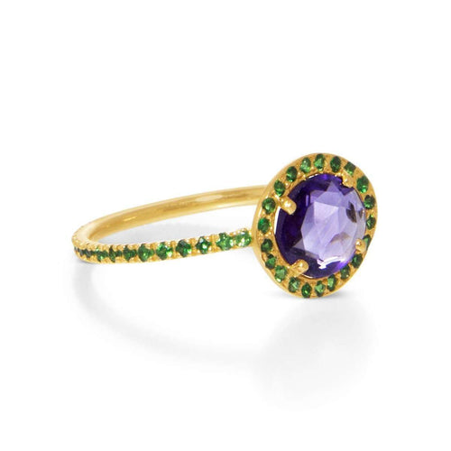 Delilah Amethyst and Tsavorite Garnet Ring ,[product vendor],JewelStreet EU