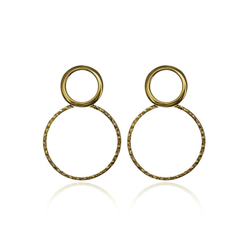 Gold Plated Silver Duet Earrings