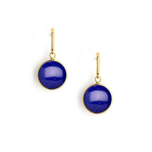 18kt Lapiz Lazuli Earrings-Syna-JewelStreet EU