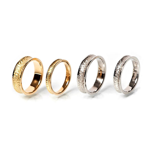 Textured & Polished Wedding Bands In 18kt Gold, Palladium, & Platinum ,[product vendor],JewelStreet