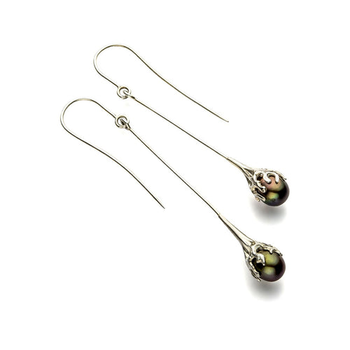 Eroded Bud-Form Earrings-John S Roberts Artist-Jeweller-JewelStreet EU