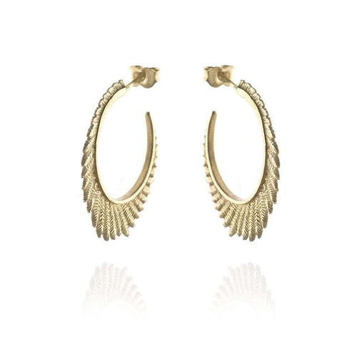 Fern large hoops VM-Patience Jewellery-JewelStreet EU