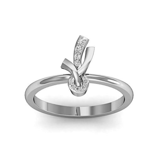 Exemplary Decorated Ribbon Ring in 18Kt White Gold-Diamoire Jewels-JewelStreet EU