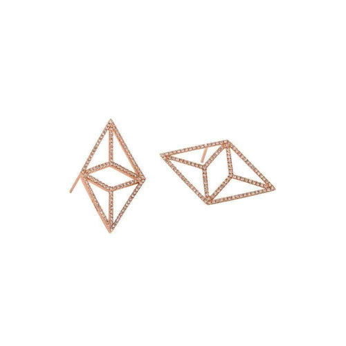 Diamond Rose Kite Earrings-Bridget King Jewelry-JewelStreet US
