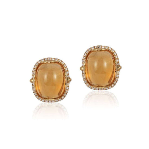 Rock n Roll Citrine Cabochon Earrings ,[product vendor],JewelStreet EU