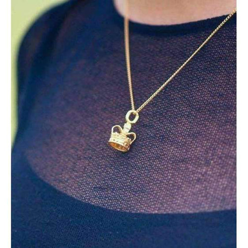 Crown Gold Plated Charm-Katie Mullally-JewelStreet EU