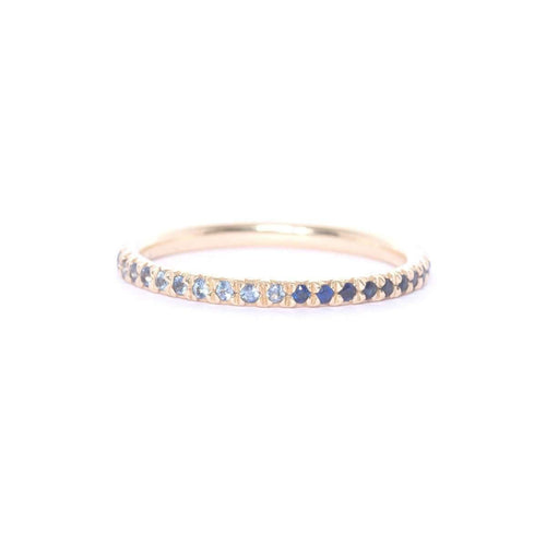 Gold & Blue Sapphire Eternity Ring ,[product vendor],JewelStreet