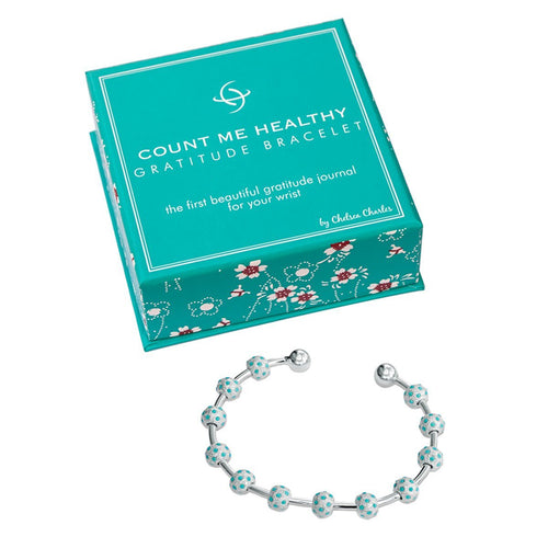 Gratitude Turquoise and Silver Bracelet-Chelsea Charles-JewelStreet EU