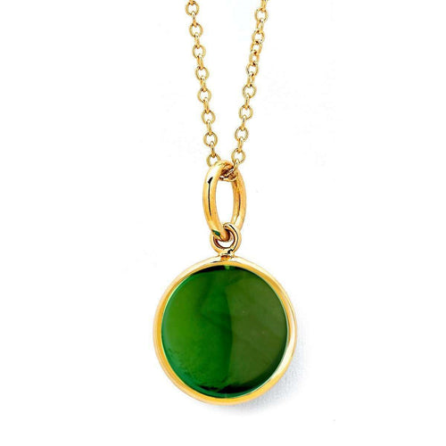 18kt Green Tourmaline Chakra Necklace-Syna-JewelStreet EU