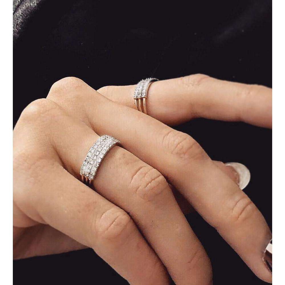 Jessie V E Feel The Love Diamond Braille Signet Ring White Gold - UK I - US 4 1/4 - EU 47 3/4 nxFd7roa