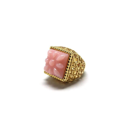 Basket-Weave ring in pink opal-Stenmark-JewelStreet US